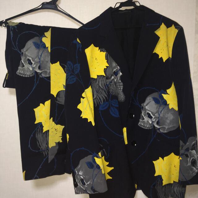 Yohji Yamamoto(ヨウジヤマモト)のyohji yamamotoスカルローズセットアップ メンズのスーツ(セットアップ)の商品写真