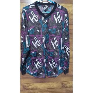 ワニマ(WANIMA)のLEFLAH レフラー 総柄 メッシュ ロンT サイズ L (Tシャツ/カットソー(七分/長袖))