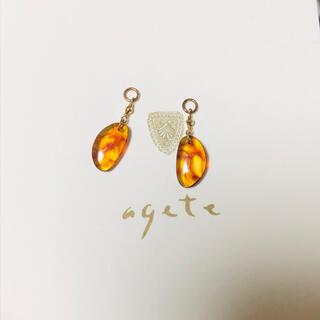 agete - 【美品】アガット アンバー チャーム K10 agete