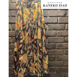 カネコイサオ(KANEKO ISAO)の美品 カネコイサオ ロングスカート 花柄(ロングスカート)