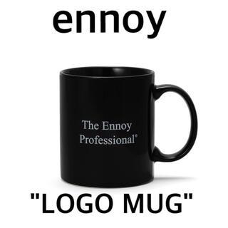 ワンエルディーケーセレクト(1LDK SELECT)のennoy LOGO MUG(Black)エンノイマグカップ黒スタイリスト私物(グラス/カップ)