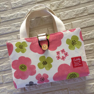 レビューブックカバー♡ピンクと白の花柄(ブックカバー)