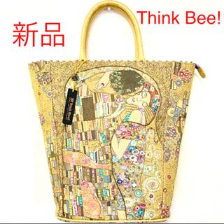 シンクビー(Think Bee!)の新品未使用 Think Bee! 限定 クリムト 豪華 ビーズ刺繍 トートバッグ(トートバッグ)