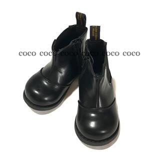 プティマイン(petit main)の新品 petit main プティマイン サイドゴアブーツ ブラック 14cm(ブーツ)