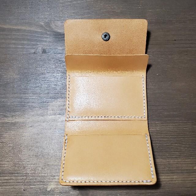 m+(エムピウ)のエムピウ ストラッチョ風 革財布 レザークラフト ハンドメイド メンズのファッション小物(折り財布)の商品写真