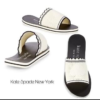 ケイトスペードニューヨーク(kate spade new york)のkate spade スライド サンダル 23㎝ 新品(サンダル)