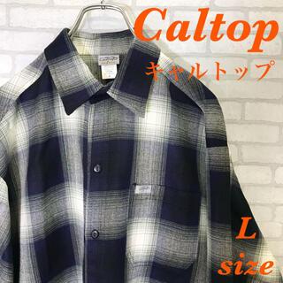カルトップ(CALTOP)のCaltop  カルトップ L チェック オンブレシャツ チカーノ 長袖シャツ(シャツ)