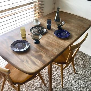 アクタス(ACTUS)の専用*初期ERCOLアーコールシックな面持ちが魅力のドロップリーフテーブル(ダイニングテーブル)