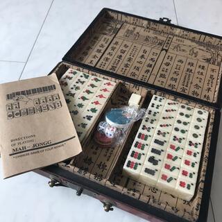 XiaoMall レトロポータブル144mah-jong 中国麻雀ボックス(麻雀)