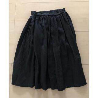 ムジルシリョウヒン(MUJI (無印良品))のMUJI☆リネンギャザースカート(ひざ丈スカート)