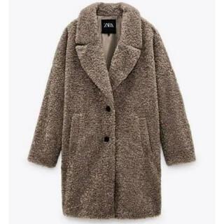 ザラ(ZARA)のZARA テクスチャーファブリックオーバーサイズコート(毛皮/ファーコート)