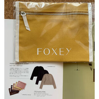 FOXEY - FOXEY キャンバスポーチ ノベルティ イエロー