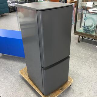 ミツビシ(三菱)のMITSUBISHI 三菱 MR-P15F-H 冷蔵庫 2ドア グレー 黒(冷蔵庫)