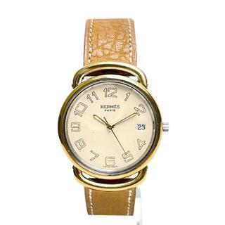エルメス(Hermes)の【美品】エルメス プルマン メンズウォッチ 腕時計 ヴィンテージ 3Q57(腕時計(アナログ))