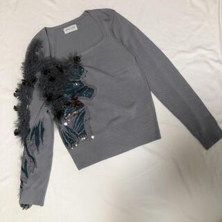 ツモリチサト(TSUMORI CHISATO)のツモリチサト 豪華装飾 薄手 セーター ニット M(ニット/セーター)