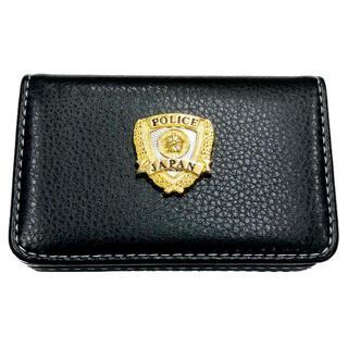 警察マグネット式名刺カード入れ映画撮影用小道具POLICEエンブレムA074(小道具)