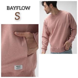 BAYFLOW - 新品 BAYFLOW ベイフロー スエードスウェットプルオーバー トップス長袖