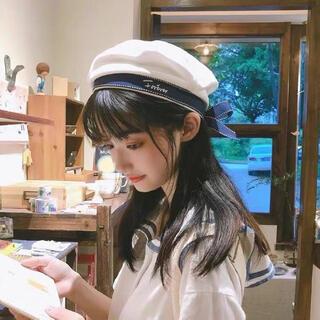 キュートな可愛い 清純 セーラーベレー帽付き 衣装サンセット(衣装一式)