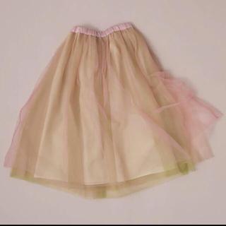 アッシュペーフランス(H.P.FRANCE)のoverlace チュールスカート(ひざ丈スカート)