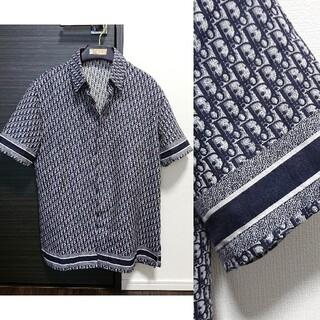 ディオール(Dior)の極美品 正規 20SS Dior オブリーク  半袖シャツ サイズ38 ネイビー(シャツ)