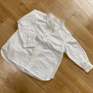 ムジルシリョウヒン(MUJI (無印良品))の無印 子供服 90 ボタンダウンシャツ(ブラウス)
