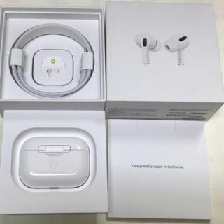 アップル(Apple)の美品 AirPods Pro MWP22J/A 購入領収書あり国内正規品(ヘッドフォン/イヤフォン)