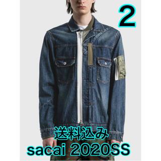 サカイ(sacai)の2021SS sacai Denim Blouson/BLUE 【size2】 (Gジャン/デニムジャケット)