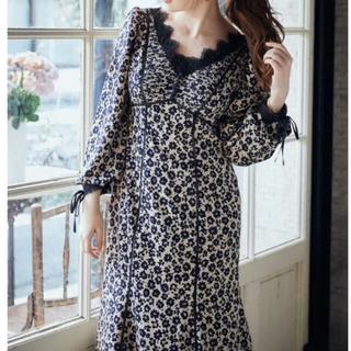 スナイデル(snidel)のherlipto Floral Print Lace Trimmed Dress(ロングワンピース/マキシワンピース)