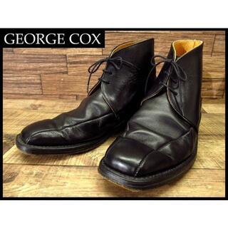 GEORGE COX - 英国製 ジョージコックス レザー ツーシーム チャッカ ブーツ UK7.5