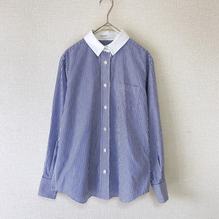 sacai luck - sacai luck  サカイラック バックプリーツストライプシャツ