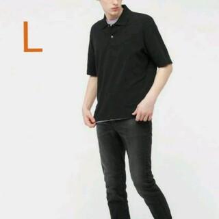 UNIQLO - ユニクロ オーバーサイズポロシャツ L ブラック
