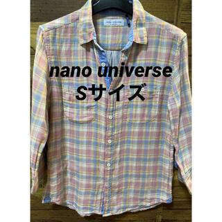 ナノユニバース(nano・universe)のナノユニバース 七部袖シャツ Sサイズ(Tシャツ/カットソー(七分/長袖))