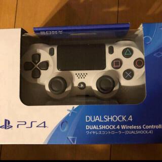 新品 PlayStation4 コントローラー グレイシャーホワイト 1個(その他)
