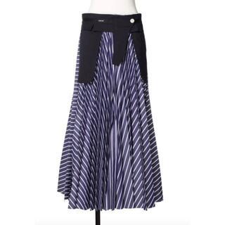 サカイ(sacai)のsacai サカイ★Cotton Poplin Skirt プリーツロングスカー(ロングスカート)