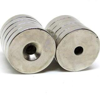 強力 磁石 ネオジウム 30×5mm 10個 丸型 皿穴 //a2b