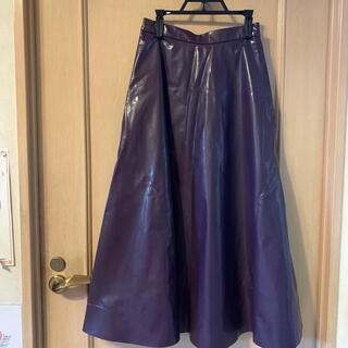 ルシェルブルー(LE CIEL BLEU)の合皮ロングスカート 新品(ロングスカート)