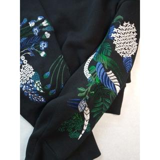 マメ(mame)の【クーポン期間値下げ】mame 刺繍スウェット トップス サイズ1(カットソー(長袖/七分))
