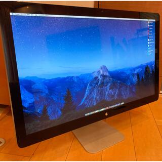 アップル(Apple)の動確済)Apple Thunderbolt ディスプレイ 27インチ A1407(ディスプレイ)