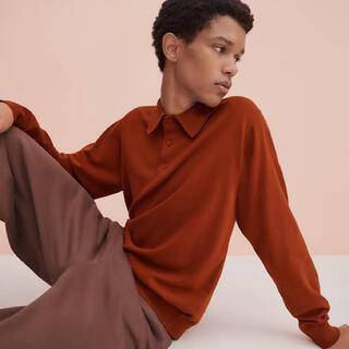 ユニクロ(UNIQLO)の【即完売品】2020ss UNIQLO U ニットポロシャツ(長袖)(ポロシャツ)