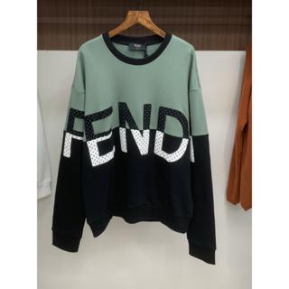 フェンディ(FENDI)のFENDI フェンディ バイカラー ロゴ 刺繍 スウェットシャツ(スウェット)