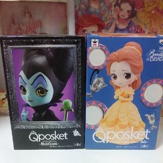 Disney - Qposketマレフィセント&ベル美女と野獣フィギュア