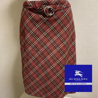 バーバリーブルーレーベル(BURBERRY BLUE LABEL)のBurberry☆ミディ膝丈スカートⓂ︎(ひざ丈スカート)
