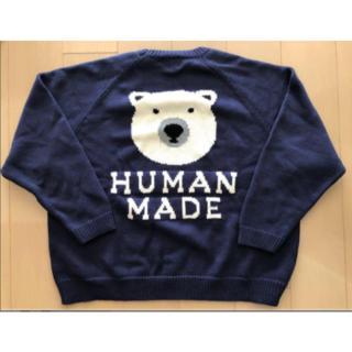 GDC - HUMAN MADE ニット NAVY ヒューマンメイド human made