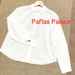 美品 パラスパレス チビ襟 刺繍 コットン ブラウス 長袖 2サイズ(シャツ/ブラウス(長袖/七分))