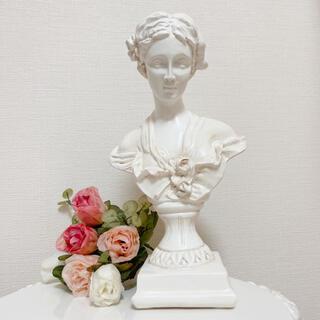 ローラアシュレイ(LAURA ASHLEY)の少女像 彫刻 アンティーク オブジェ 置物 インテリア ◆ レトロ ヴィンテージ(彫刻/オブジェ)