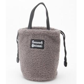 クーコ(COOCO)の新品未使用  バーバパパ ボア 巾着 トートバッグ グレー(その他)