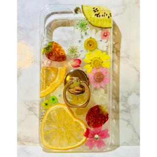iPhoneケース、iPhoneカバー、押し花ケース、スマホケース、押しフルーツ(スマホケース)
