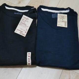ムジルシリョウヒン(MUJI (無印良品))の無印  Tシャツ 新品  Vネック半袖 クルーネック Mサイズ(Tシャツ/カットソー(半袖/袖なし))