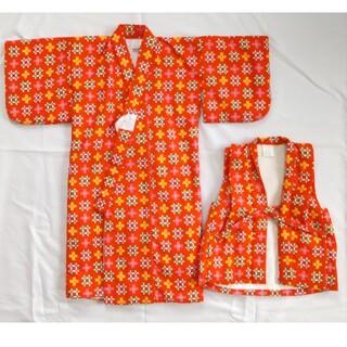 一ツ身 レトロ着物&デンチセット 1~2歳 (和服/着物)