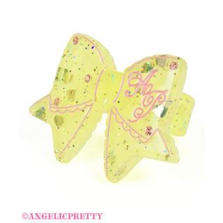 アンジェリックプリティー(Angelic Pretty)のangelic pretty きらめき リボン リング イエロー(リング(指輪))